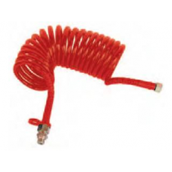 Spirale aria con raccordi rossa