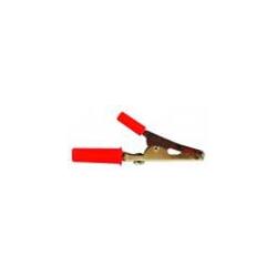 Pinza batteria - coccodrillo in acciaio zincato - rossa