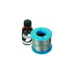 Stagno per saldatura - filo Ø 2 mmq - rocchetto da 250gr con liquido disossidante