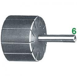 Supporto per anelli - attacco Ø 6 mm - Ø e altezza supporto 12x25 mm