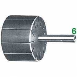 Supporto per anelli - attacco Ø 6 mm - Ø e altezza supporto 22x20 mm