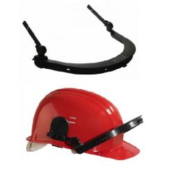 Portavisiera per casco da cantiere
