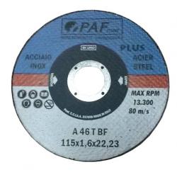 115X1,6X22 - Dischi PAF ACCIAIO INOX GOLD