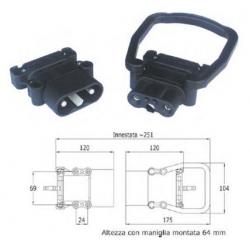 Connettore bipolare serie Europa - femmina - DIN 320 A - per cavo 70 mmq