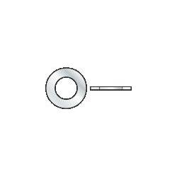 DIN 125 A - Rondella piana zincata - M18