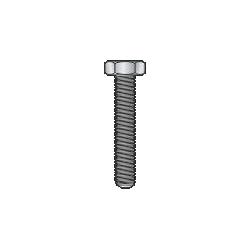 DIN 933-UNI 5739 - Vite TE cl. 8.8, zincata - M10x150mm