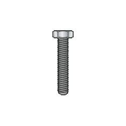 DIN 933-UNI 5739 - Vite TE cl. 8.8, zincata - M10x20mm