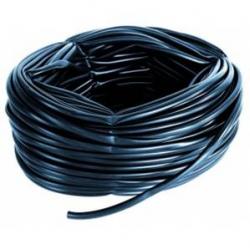 Guaina in pvc colore nero - matassa 25 mt - Ø 12 mm