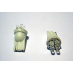 LED - 12V - 04 n. LED - Ø 9 mm - T10 W2,1X9,5d - Blu - FIRE