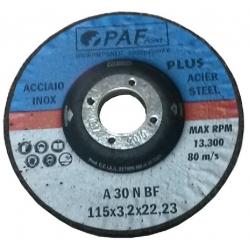 115X3,2X22 - Dischi PAF ACCIAIO INOX GOLD