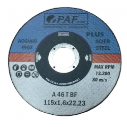 125X1,0X22 - Dischi PAF ACCIAIO INOX GOLD