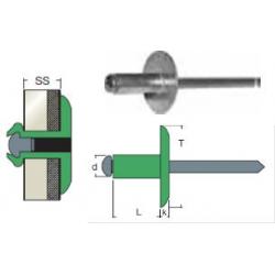 AFL-Rivetto standard Al/Acciaio TL - 4,0x10,0 TL10