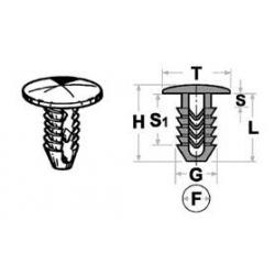 Bottone di fissaggio - nylon poliammide PAG