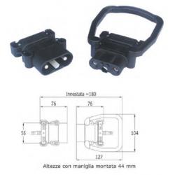Connettore bipolare serie Europa - maschio con maniglia - DIN 80 A - per cavo 25 mmq