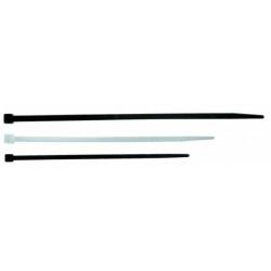 Fascetta per cablaggio in plastica bianca - 160x4,5