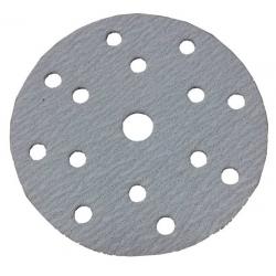 GRANA 40 - D150 - Dischi abrasivi in carta velcrata 15 FORI - conf. da 100 pz