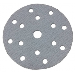 GRANA 60 - D150 - Dischi abrasivi in carta velcrata 15 FORI - conf. da 100 pz