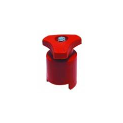 Morsetto batteria (+) in acciaio zincato con protezione in plastica rossa