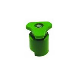 Morsetto batteria (+) in acciaio zincato con protezione in plastica verde