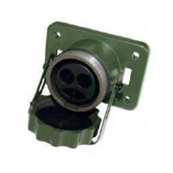 Presa 2 poli - 24 V - VG96917 - Verde Nato