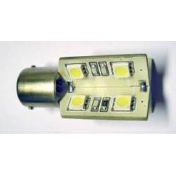 SMD LED - 12V - 16 n. LED - BA15s - Bianco - FIRE